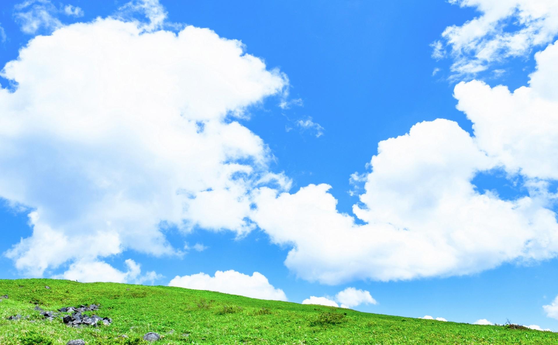 美しい青空と草原